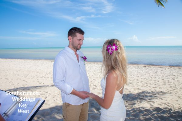 Toes in the Sand Beach Elopement Package by Southernmost Weddings $295.00