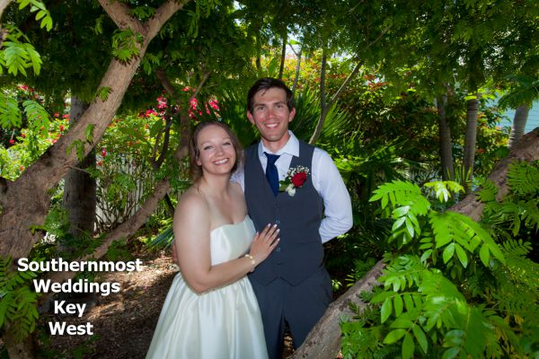 Wedding Ceremony by Southernmost Weddings at the Truman Annex Butterfly Garden