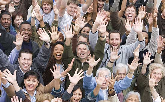 picture of people holding up their hands