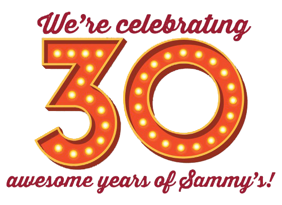 Text Image: Celebrating 30 awesome years of Sammy