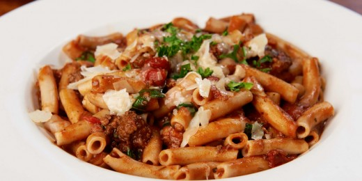 Sample image of Sammy's Brown Rice Penne or Spaghetti Bolognese