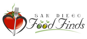 Pictured is the San Diego Food Finds Blog logo