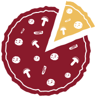 Pizza icon with slice removed