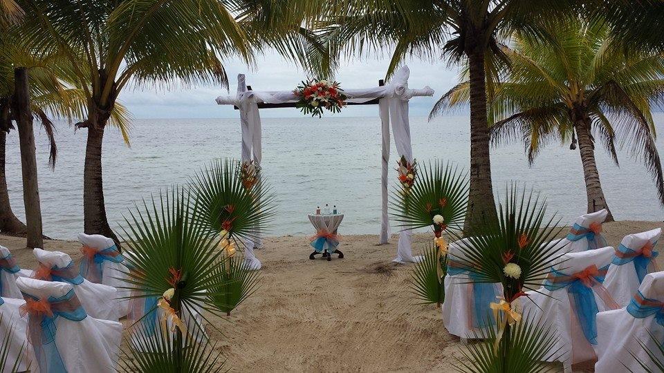 Wedding Flowers on Beach