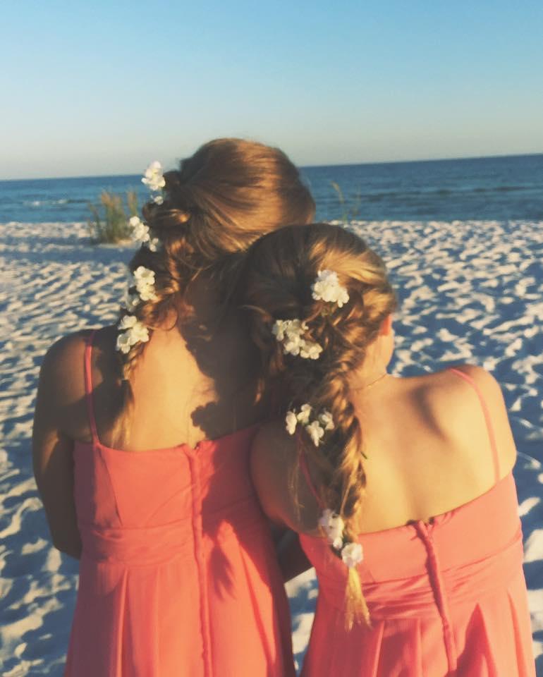 Flower Girls on the beach