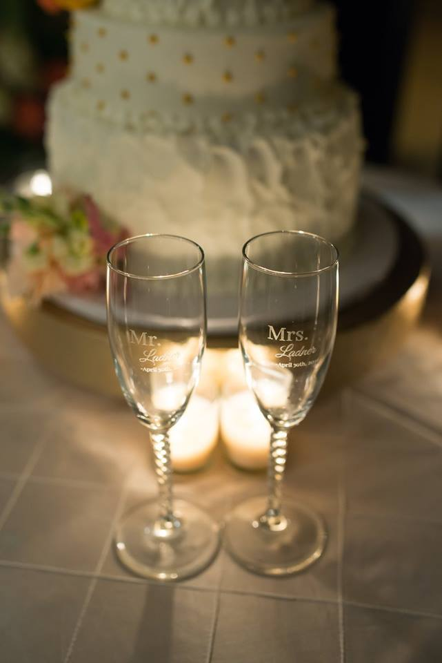 Engraved Wedding Flutes