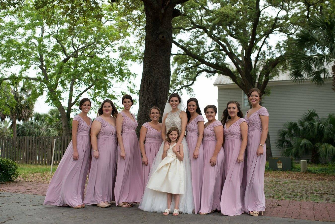 The Bride with her bridesmaids and flower girls