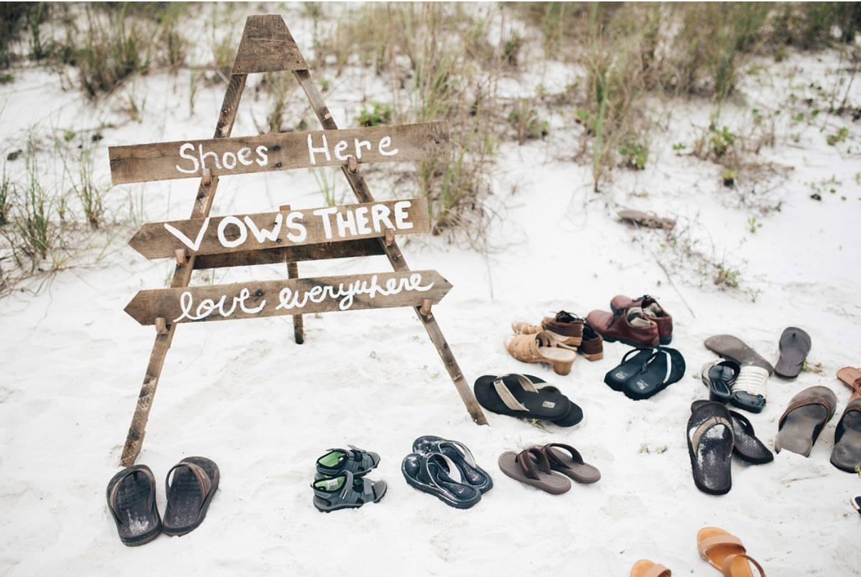 Wedding Signs on Beach