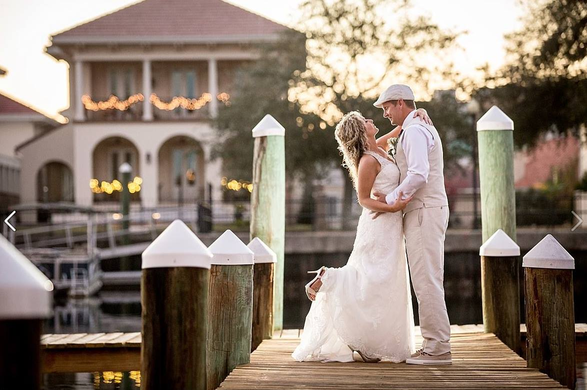 Wedding Couple on Dock