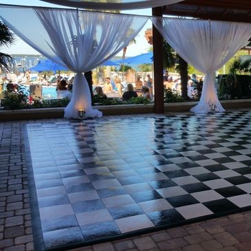 Black and White Checkered Dance-floor