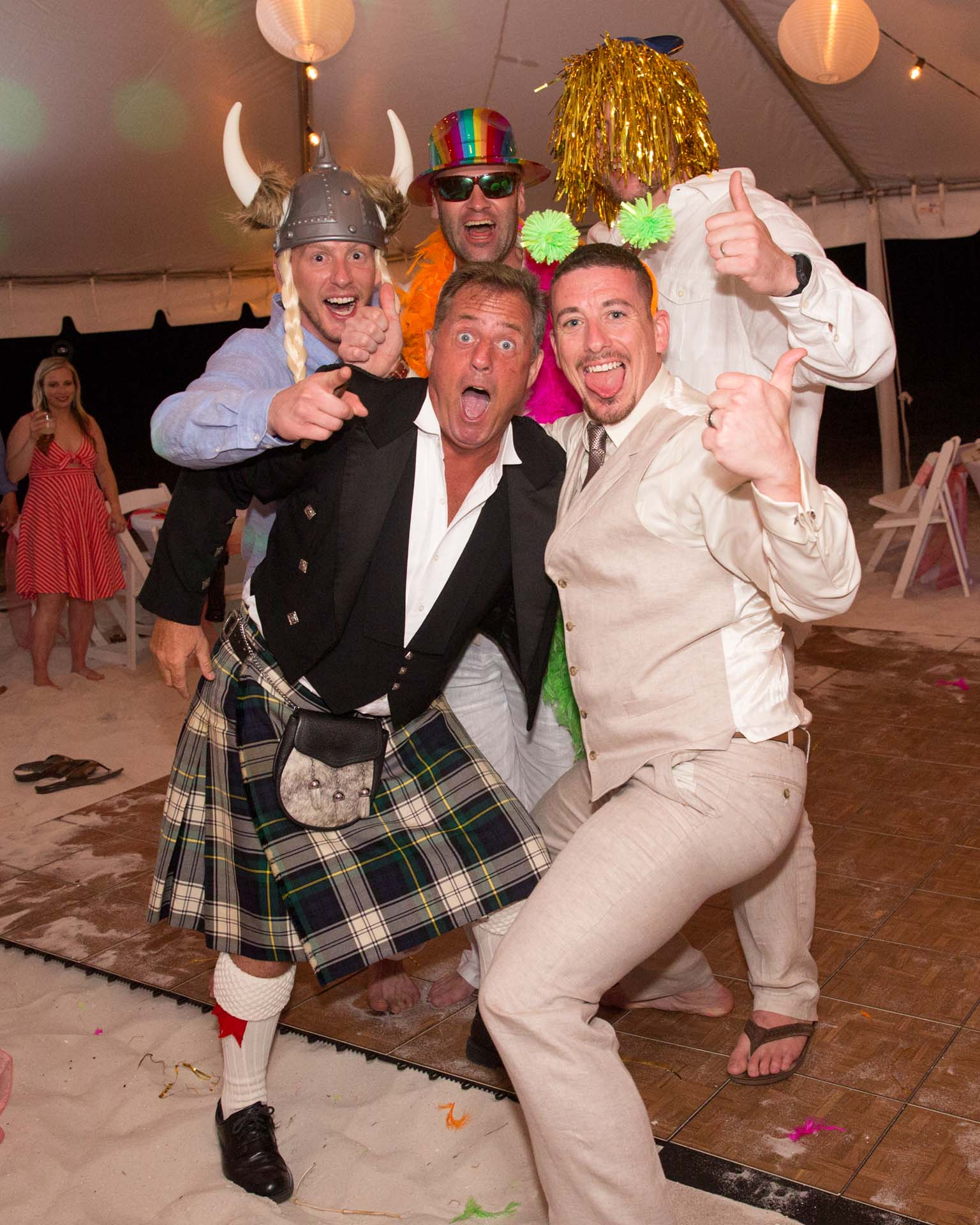 Wedding party at reception