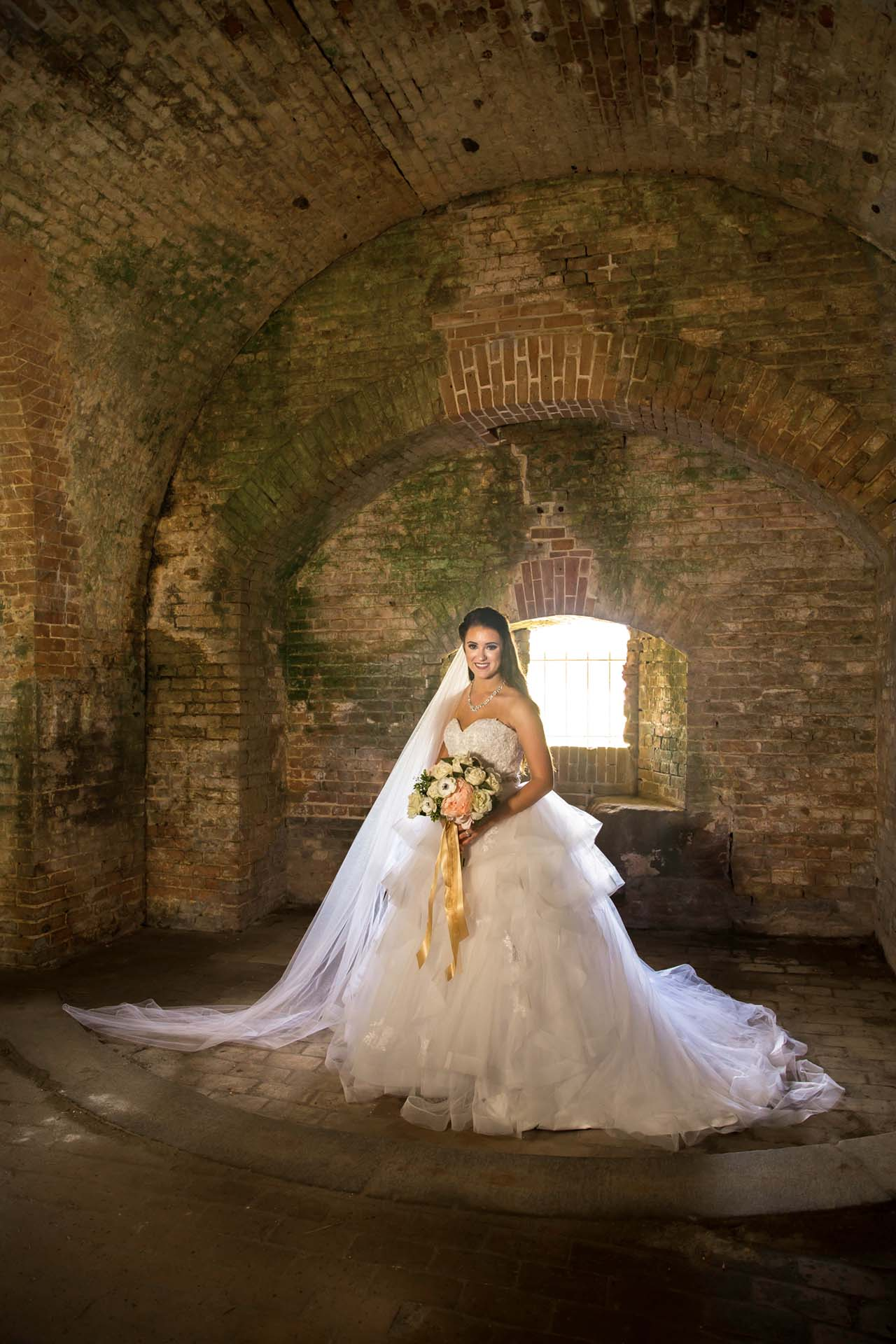 Bride at Fort Pickens