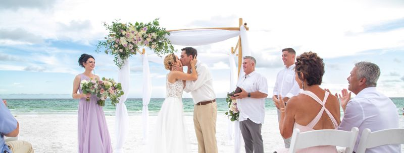 Wedding Flowers on Beach