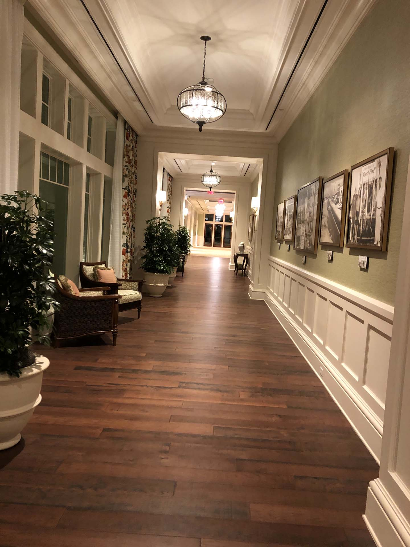 Wedding venue hallway