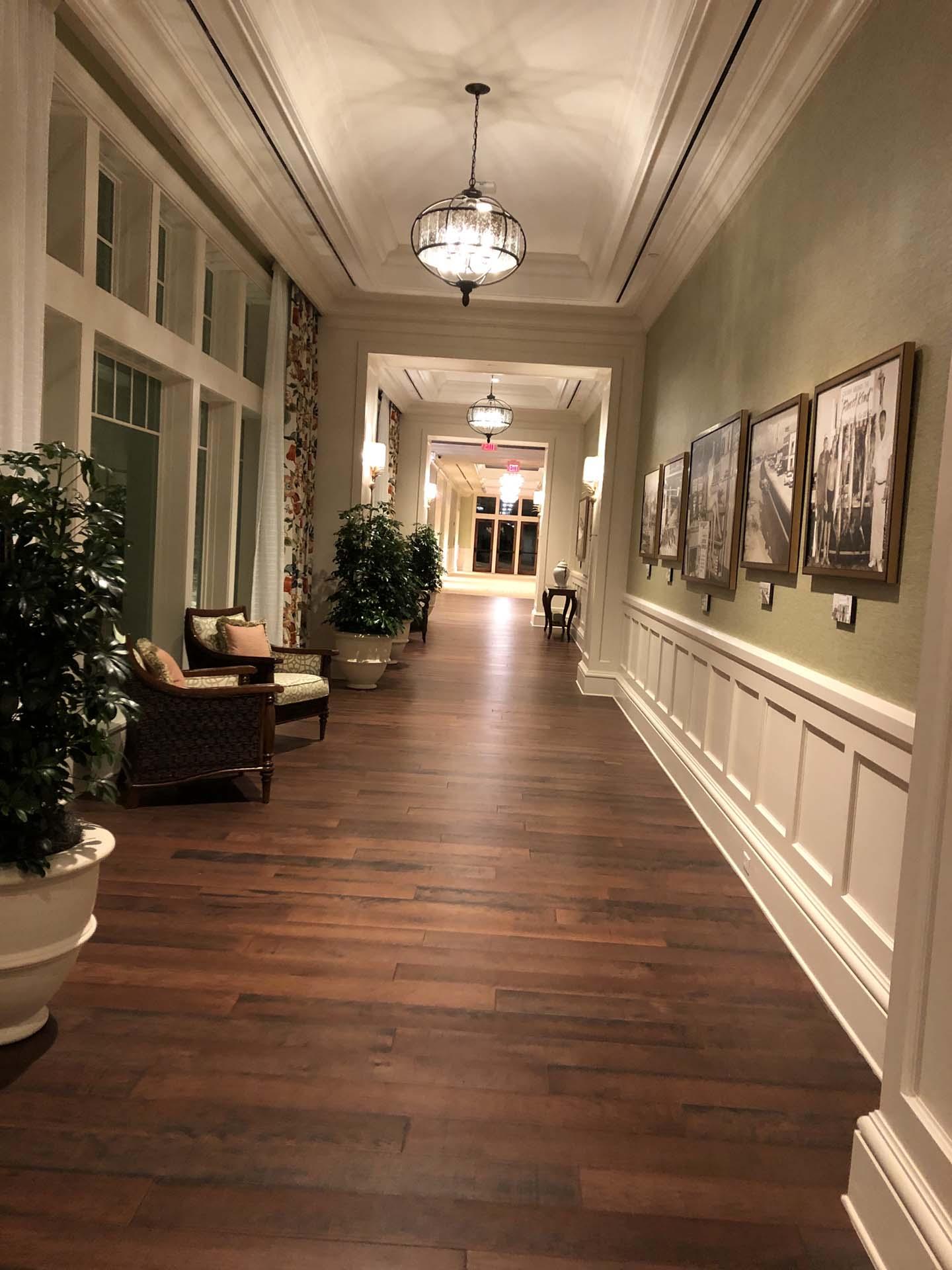 Wedding venue hallway