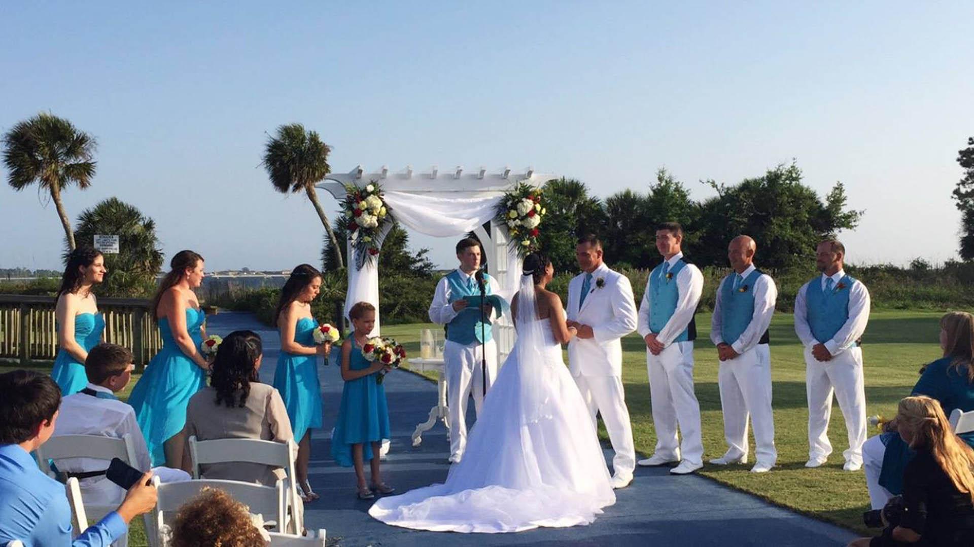 Lekisha and Edsel wedding ceremony