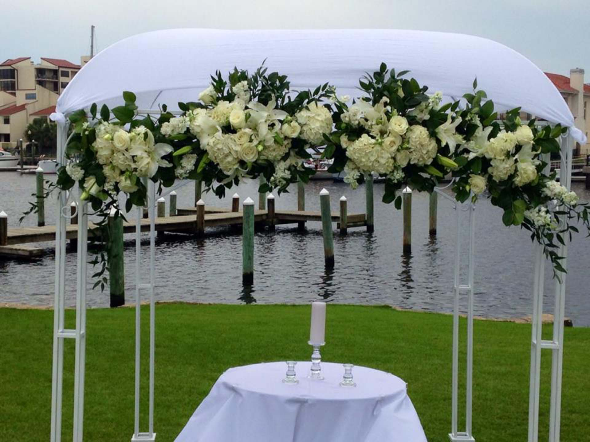 Wedding altar and arch