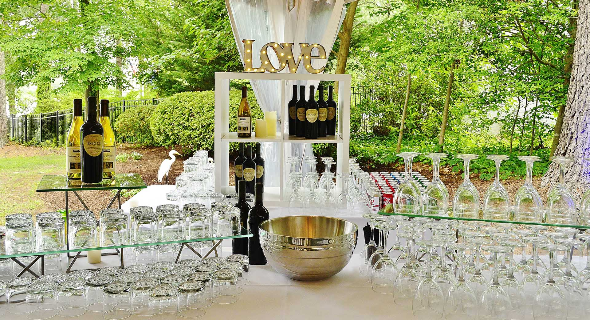 Wedding bar at reception