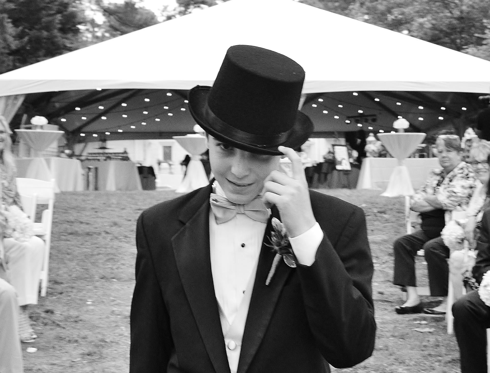 Groomsman at the wedding