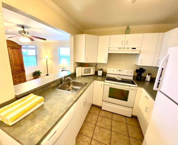 Kitchen view of villa house