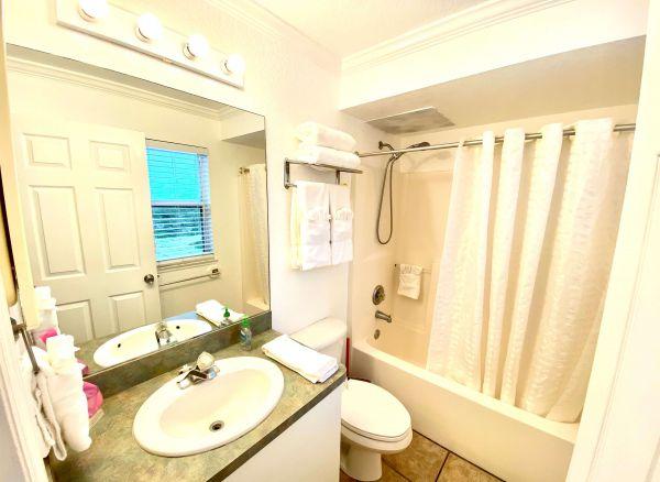 Washroom of villa