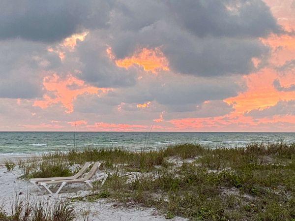 Evening view of beach