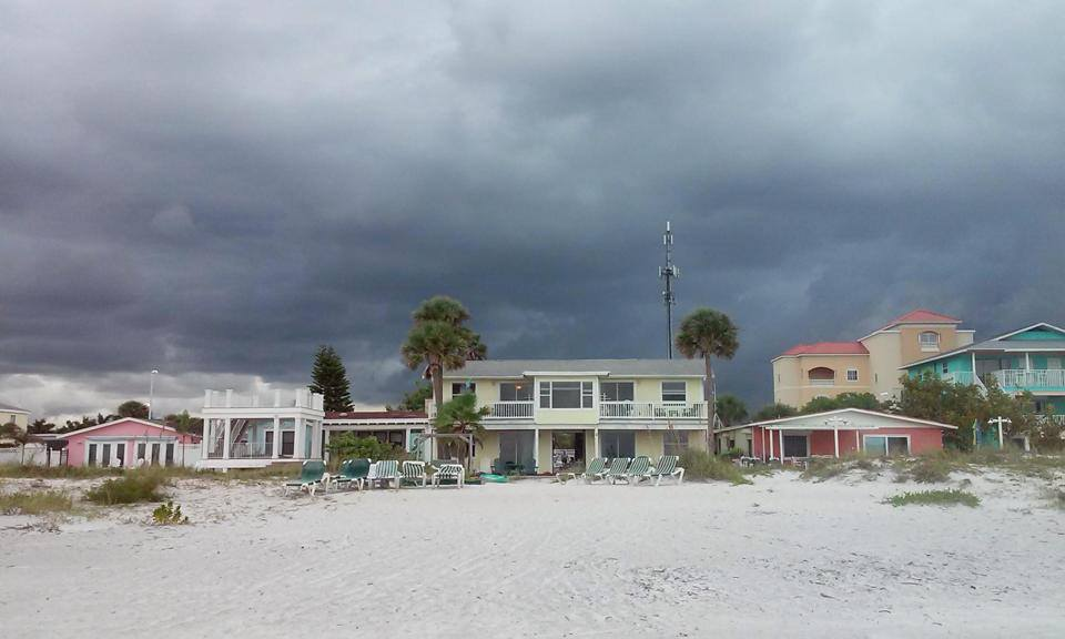 view of villas from beach