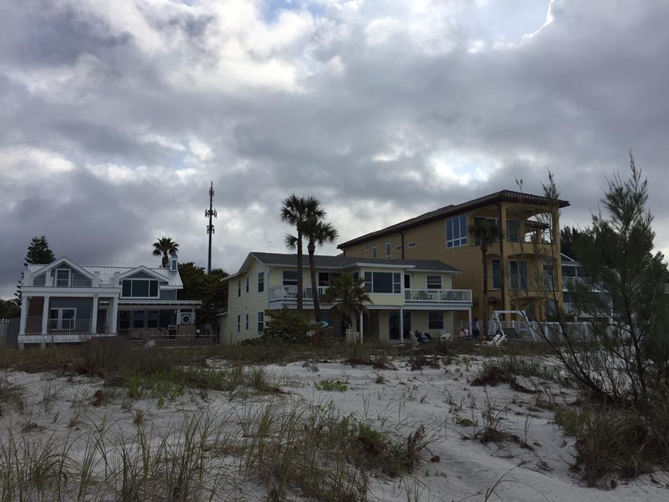 view of villas over dunes
