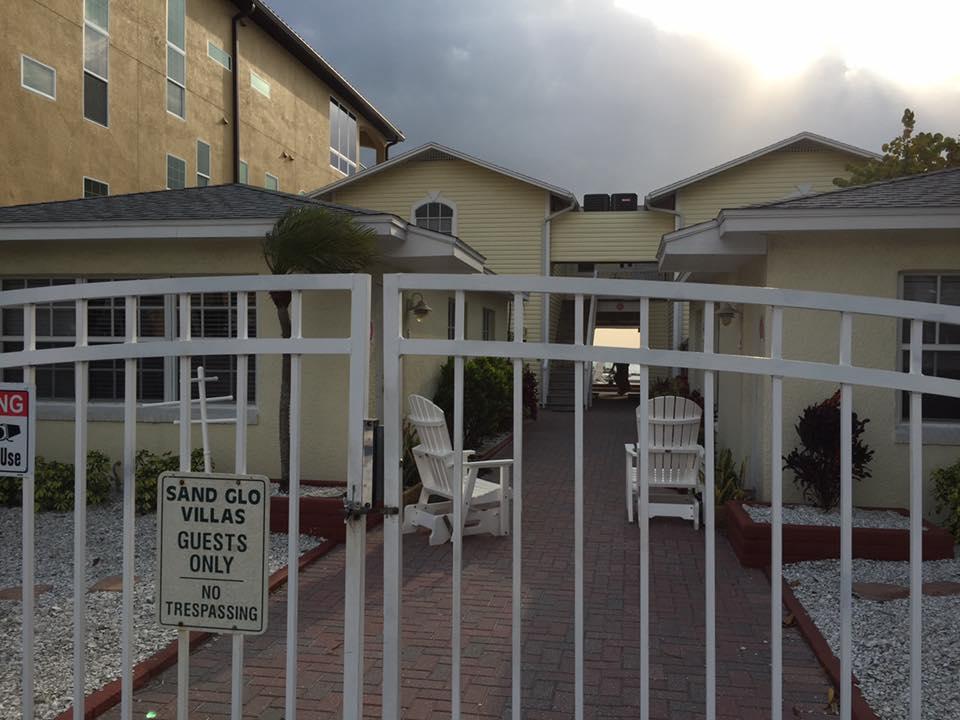view of villa gate close up