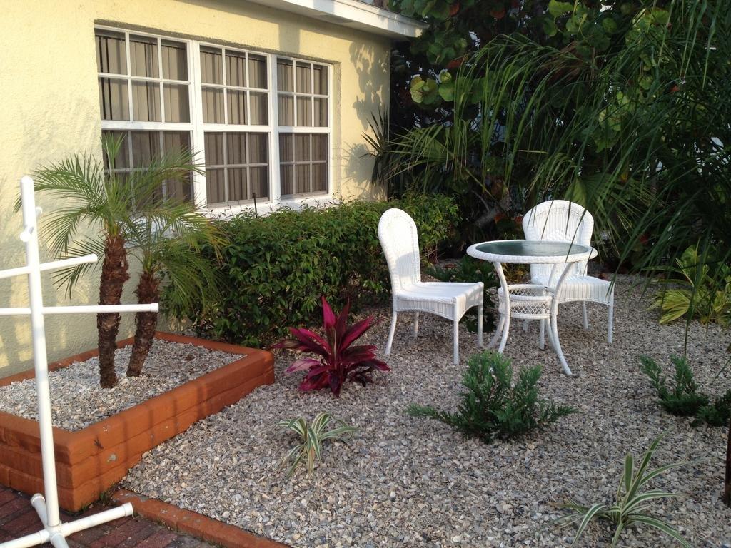 outside seating at villa