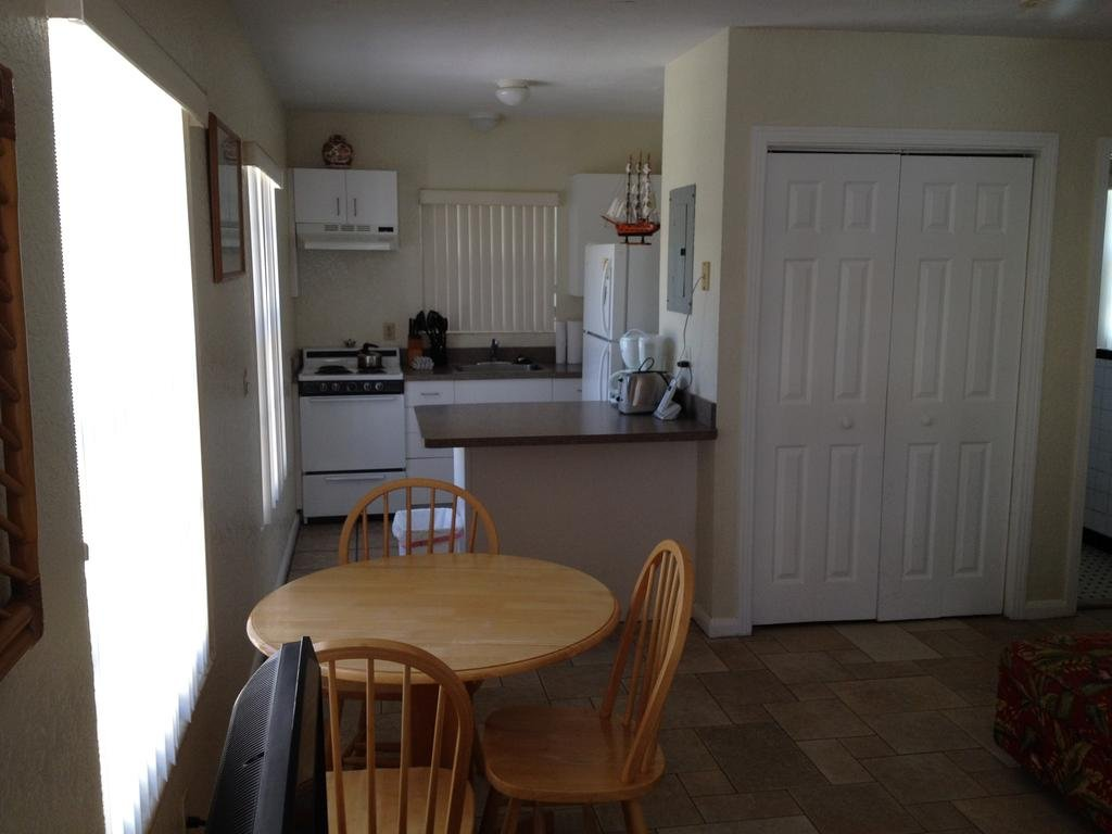 interior view of a villa kitchen