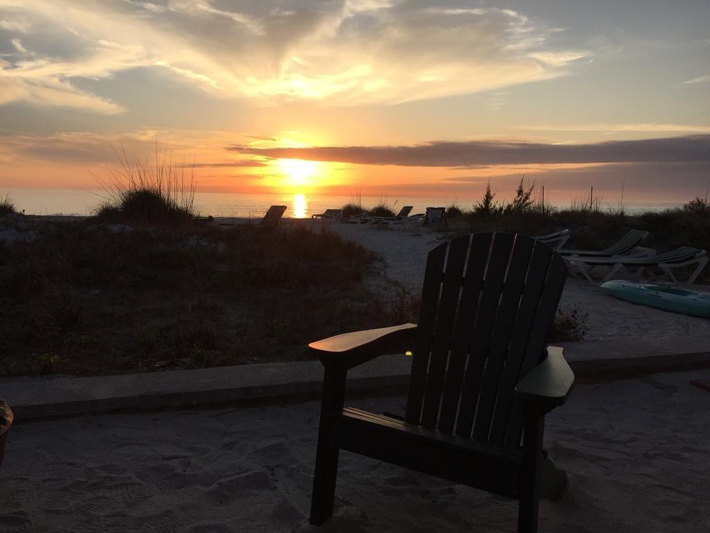 chair facing sunset