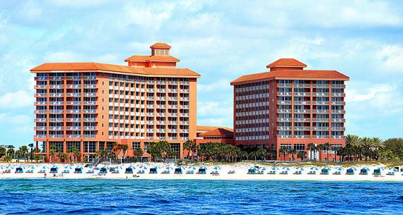exterior view from water of Perdido Beach Resort