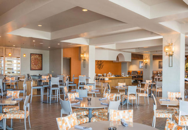 View of restaurant dining area