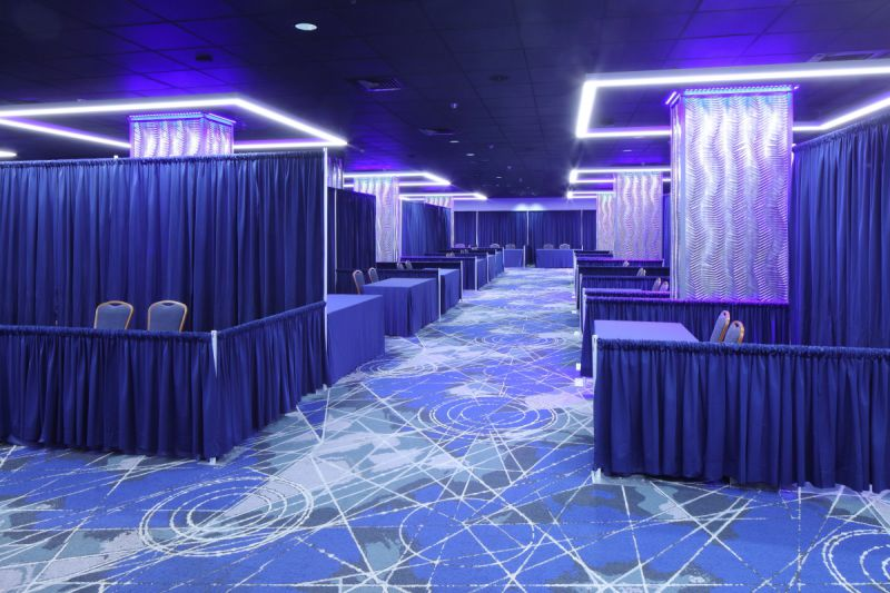 trade show set-up in Grand Reef meeting space