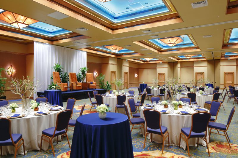 Grand Ballroom with stage and foyer