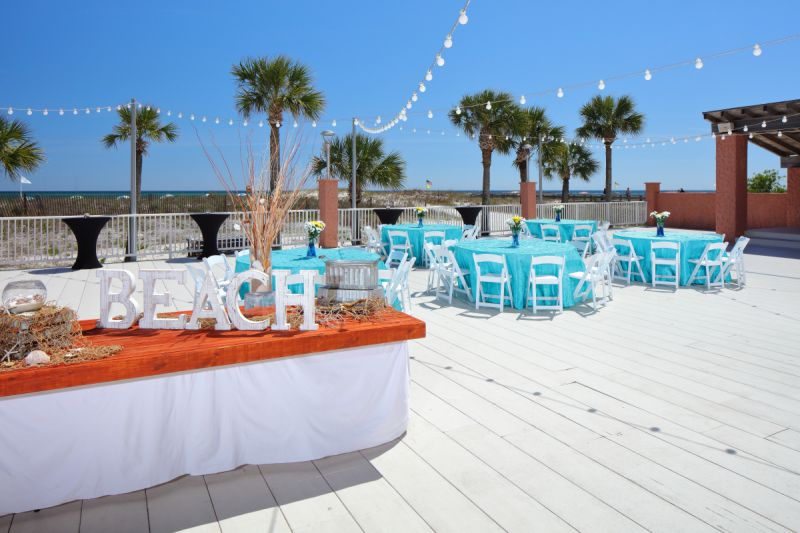 outdoor meeting venue at beach