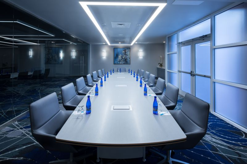 Night Reef Glass Boardroom