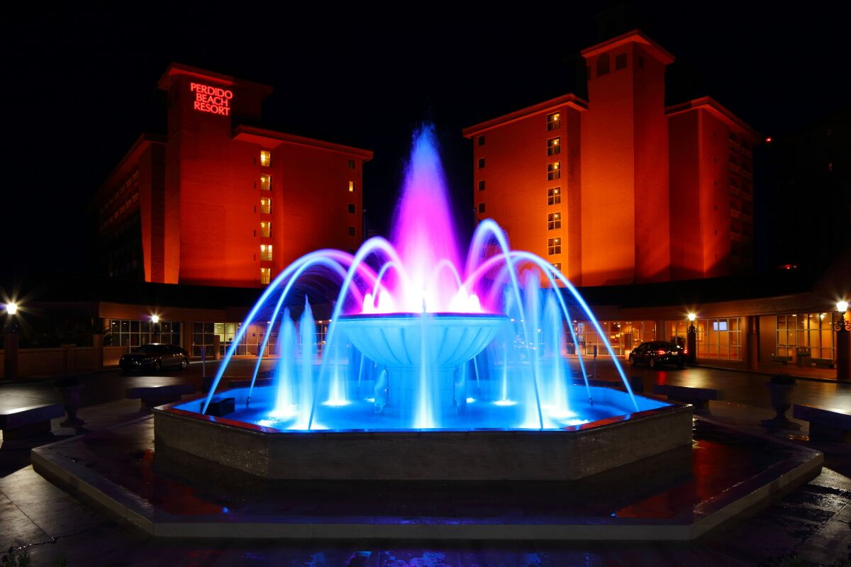 Fountain Glowing Pink & Blue