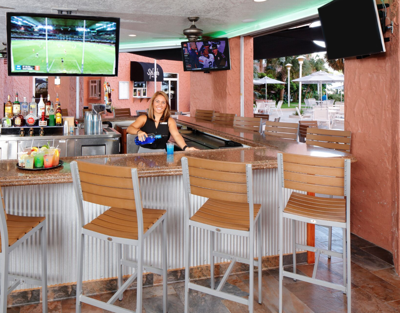 outdoor bar in pool area of Perdido Beach Resort