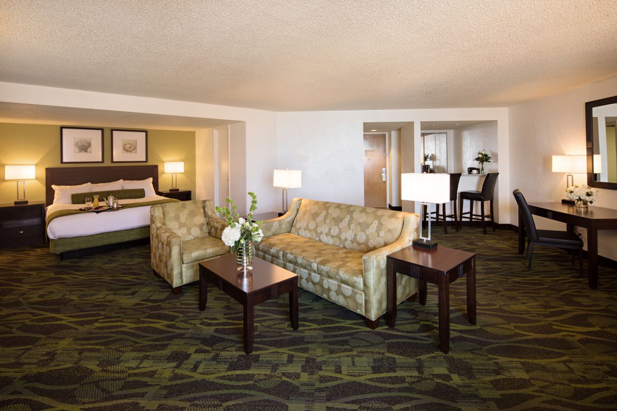 Perdido Beach Courtyard Suite featuring a living room area