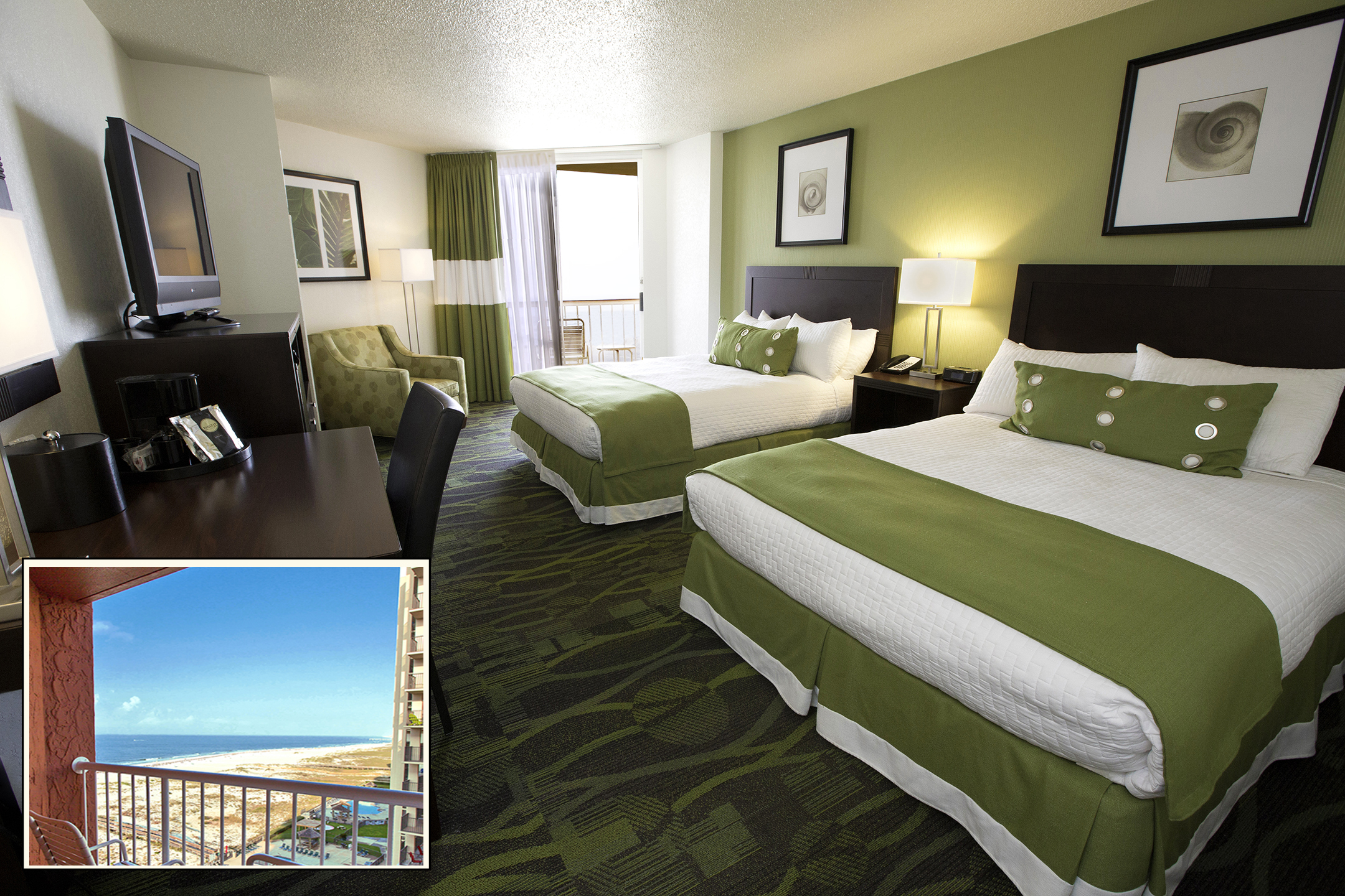 Perdido Beach Angle View Room featuring two queen beds