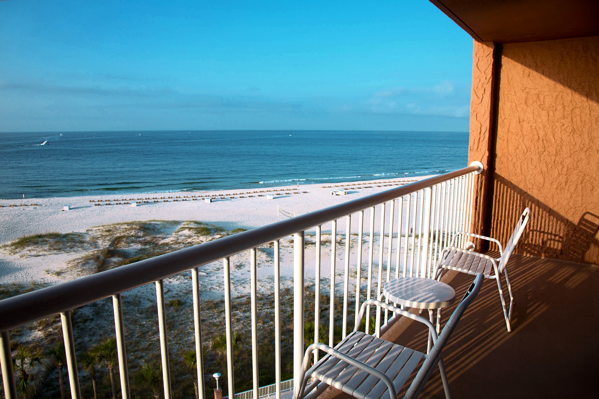 Perdido Beach Gulf View Room featuring balcony view of beach