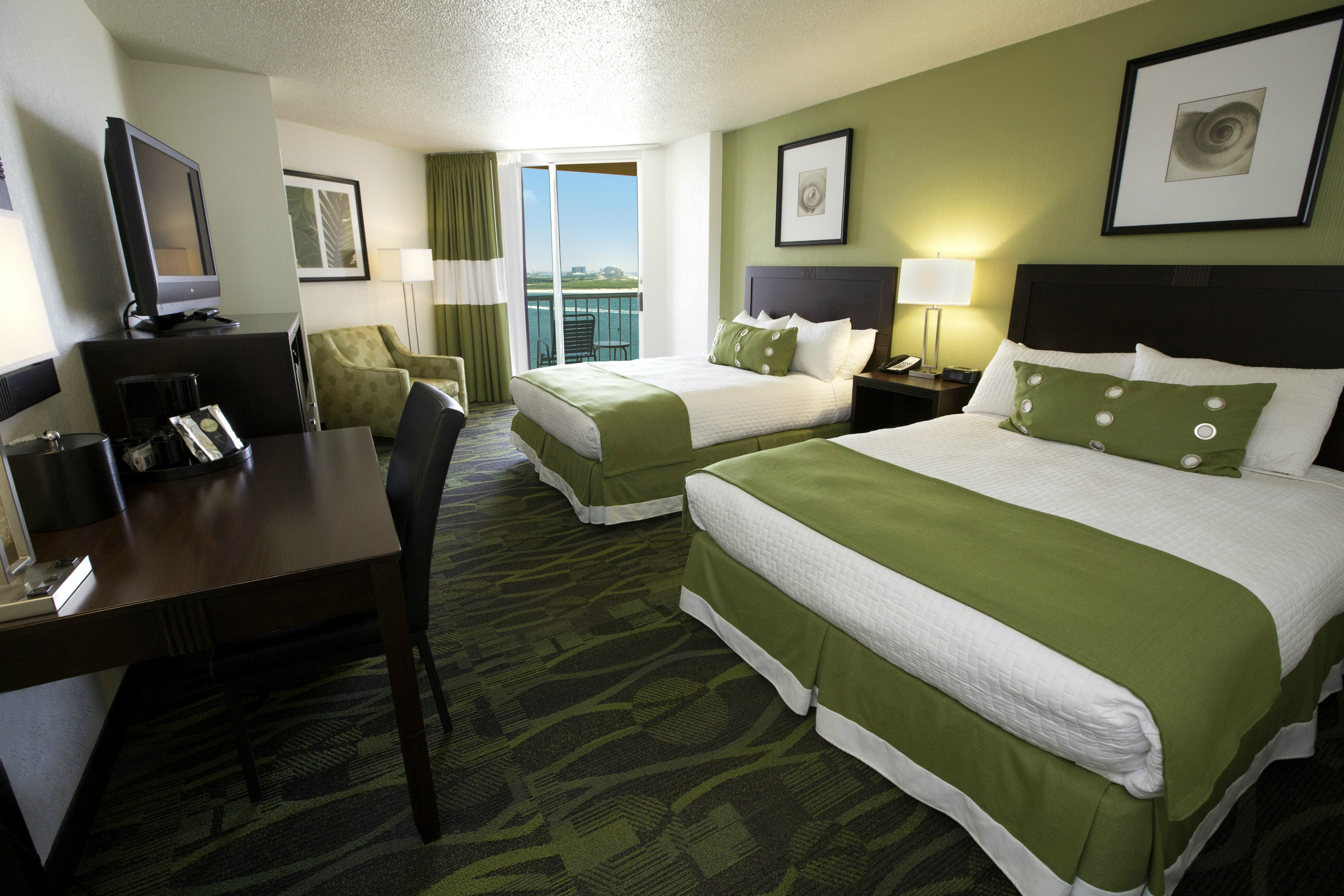 Perdido Beach Pass View Room featuring two Queen beds