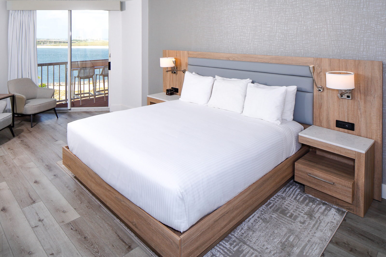 Perdido Beach Pass View Room featuring a King bed
