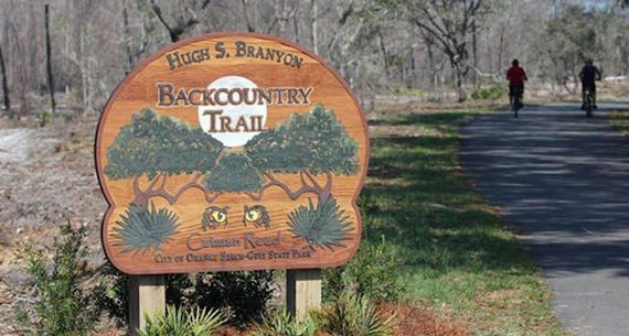 wooden Back Country Trail sign