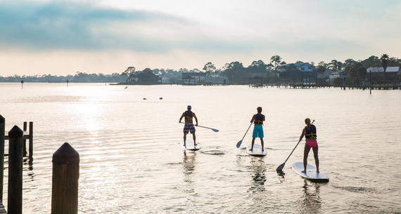 3 paddleboarders
