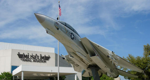 jet display in front of National Museum of Naval Aviation