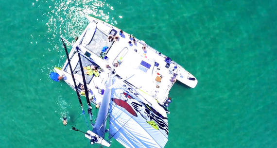 aerial view of Wild Hearts Catamaran