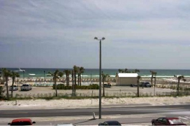 view of beach from rental condo